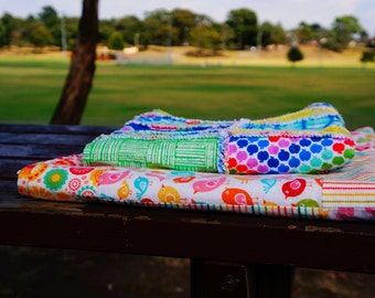 Handmade 1.2meter*1.7meter Double Sided Flannel Blanket, Reversible Baby Throw Blanket, Recieving Blanket, flannel quilt