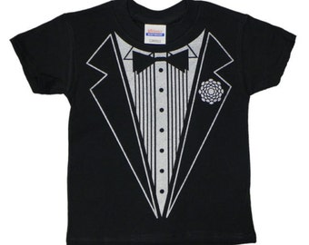 Tuxedo T-shirts in Adult and Kids Sizes