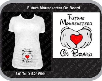 Future Mouseketeer On Board Maternity Shirt