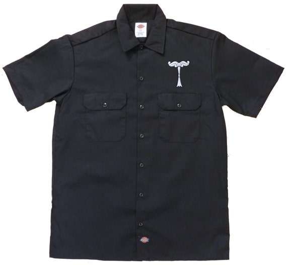Irminsul embroidered work shirt dickies for Embroidered dickies work shirts