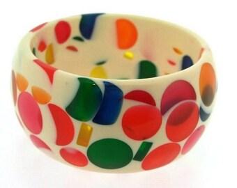 Acrylic nougat effect Bangle Bracelet