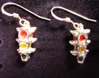 Stoplight Earrings
