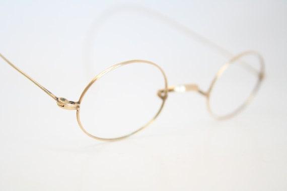 Solid Gold Eyeglass Frames : Antique Frames Vintage Gold Glasses Frames by ...