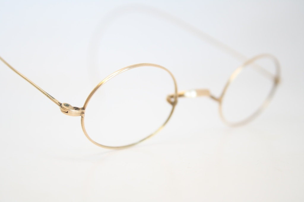 Gold And Silver Eyeglass Frames : Antique Frames Vintage Gold Glasses Frames by ...