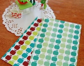 apple pattern illustration card/postcard/card set