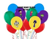 Teen Titans Go Balloon Stickers Set of 5 Tablecloth or balloon stickers Precut Ready to Use