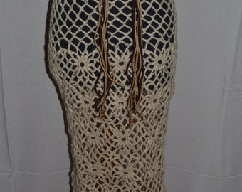 NEW PRICE!! Skirt,fishnet, knit crochet combo thread