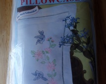 Jack Dempsey Embroidery Pillowcases Kit #31 Birds Never opened