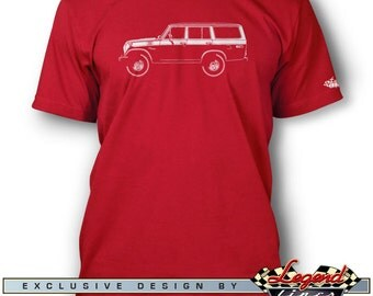 Toyota BJ55 Fj55 Land Cruiser T-Shirt for Men - Lights of Art - Multiple colors available - Size: S - 3XL - Great Japanese Classic Car Gift