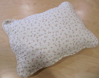Rosebuds Coral Feather Cushion