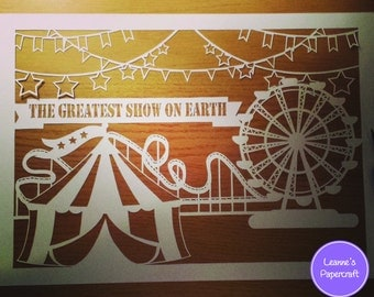 Cut your own JPEG papercut template - The Greatest Show on Earth - Personal use only
