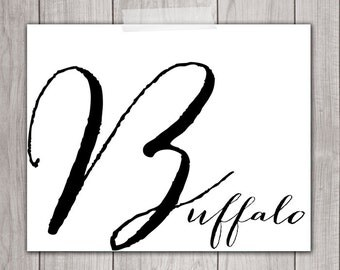 75% OFF SALE - Buffalo NY Print - 8x10 Buffalo ny Art, Buffalo Decor, Home Decor, Printable Art, Buffalo Wall Art, Buffalo Typography