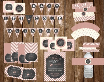Baby it's Cold Outside (Rose Gold) Baby Shower Party Pack