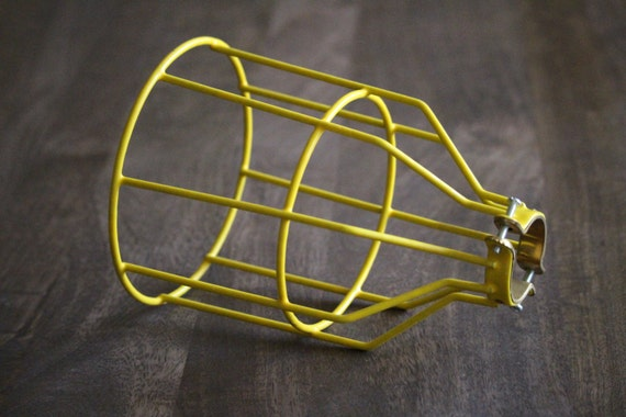 yellow bulb guard clamp on lamp cage safety by libertyelectric. Black Bedroom Furniture Sets. Home Design Ideas