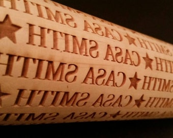 Casa...Last Name Personalized Rolling Pin
