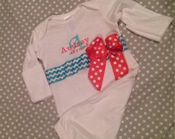 Newborn hospital gown