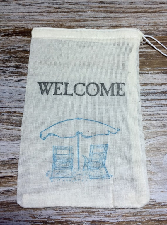 Wedding Favor Bags Beach : beach wedding favor bags, welcome favor bags, beach chair favor bags ...