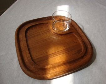 Goodwood Teak Mid Century Modern Meat, Cheese or Hors d' Oeuvres Tray!
