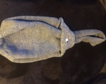 Hand knit , felted wool bag