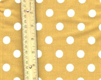 Light Brown Polka Dot Fabric, Fabric by the Yard, sewing fabric, Tan Fabric