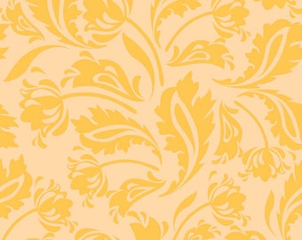 Floribella by Emily Taylor, from Riley Blake, Yellow Damask, 1 yd