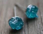 Raw Apatite earrings post studs Earrings meditation stone Original Design gemstone studs tiny studs