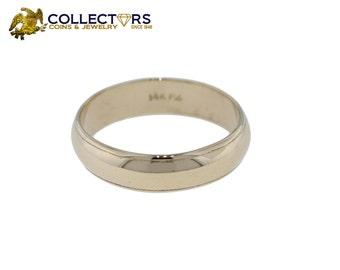 Mens 14k Yellow Gold 5MM Wedding Band Ring