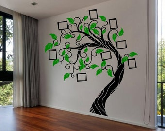 Family tree wall decal etsy uk - Arbre genealogique stickers ...