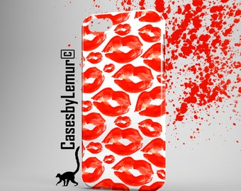 RED LIPS Iphone case Watercolor Iphone 6 case Pop Art Iphone 5 case Lips Pattern Iphone 6 plus case NEW Iphone 5C case Summer Iphone 5s case
