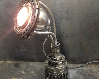 Steampunk Lamp, Industrial Lamp, Machine Age Lamp,