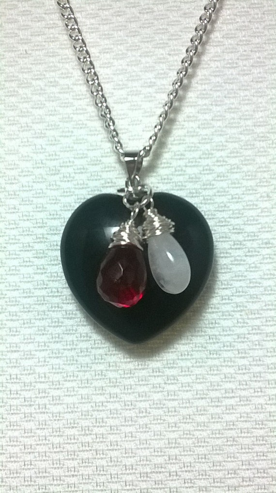 black obsidian pendant necklace with aaa rainbow