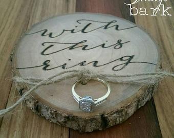 Log slice ring holder