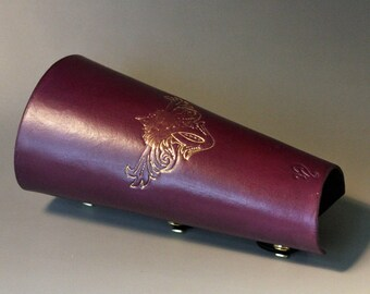 Archery Arm Guard with Golden Scroll Design