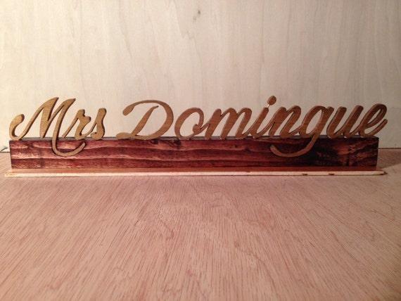 Wooden Desk Name Plates ~ Custom desk name plate script wood