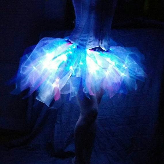 Jellyfish String Lights : Bold Arctic Jellyfish 60 LED Adult Bustle Tutu Skirt in