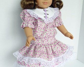 Spring Dropped Waist Dress for Most 18 Inch Dolls