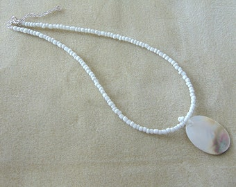 Albalone Shell Necklace.