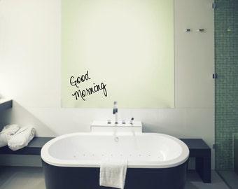 Bathroom vinyl decal