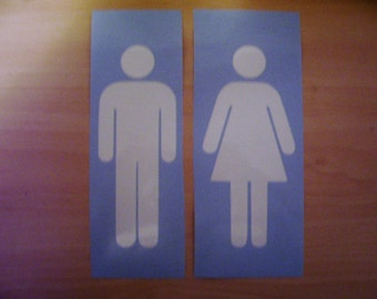 Restroom decal, Bathroom decal, bathroom sticker