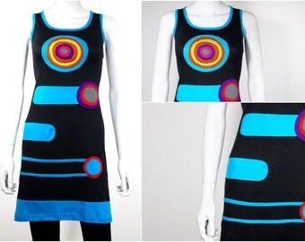 Colorful summer dress with patchwork - CHAKRA