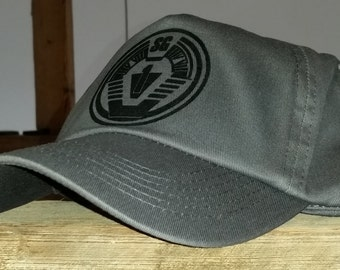 Stargate SG1 insignia cap. Graphite with black badge/insignia.