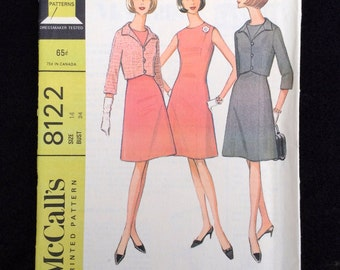 McCall's Limited Pattern 8122, misses and Junior Dress and Jacket, Size 14