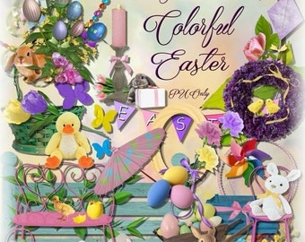 Digital Scrapbooking Easter Themed Kit