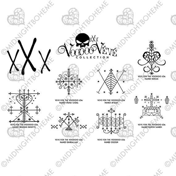 Haitian Veve Symbols Clipart Library