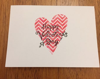5 pack Happy Valentine's Day Cards