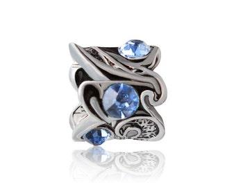 10pcs Rhinestone  European beads, Bead Charms, fits most European charm bracelets bead charm bracelet