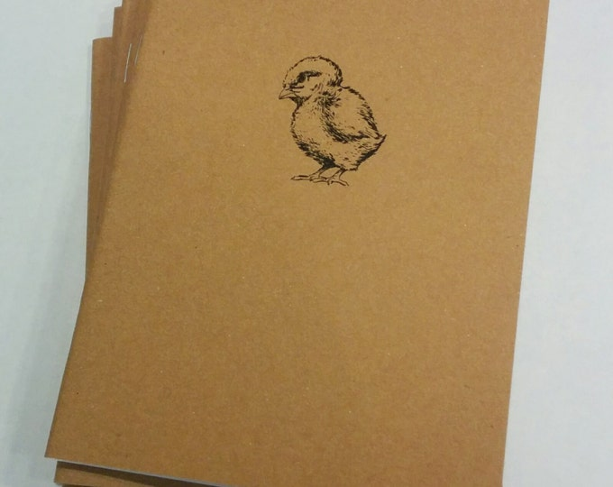 Baby Chick Mini Notebook - diary, journal, party favors, multipack, chicken, farm animal, custom printing included