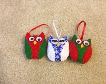 Fabric Owl Ornament