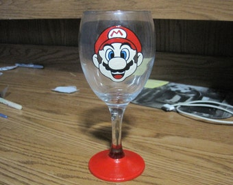 Mario wine glass