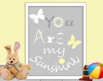 instant download digital Nursery Art Print Baby Nursery Decor Nursery Print Kids Art Gray 8x10 Playroom Art Children Room Decor Art For Kids